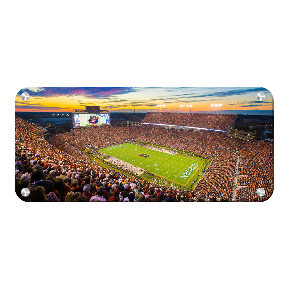 Auburn Tigers - Jordan-Hare Stadium Sunset Panoramic - College Wall Art#Canvas