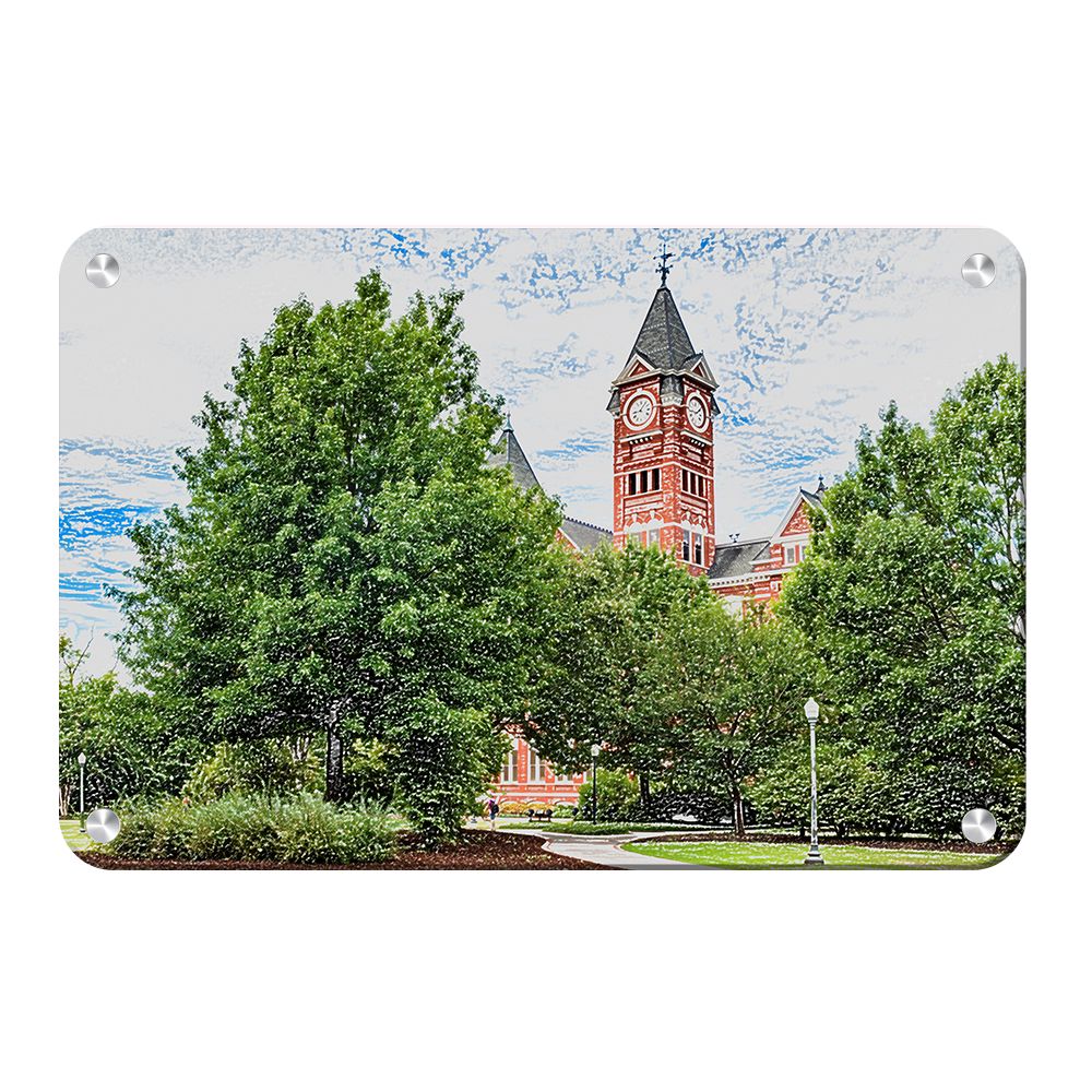 Auburn Tigers - Samford Hall Sketch - College Wall Art#Canvas