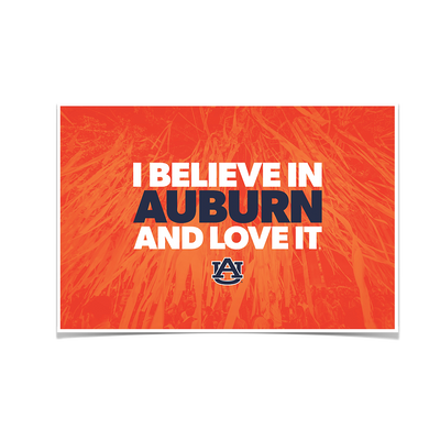 Auburn Tigers - I Believe in Auburn - College Wall Art#Poster