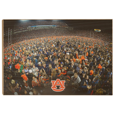 Auburn Tigers - Iron Bowl Storm the Field - College Wall Art#Wood