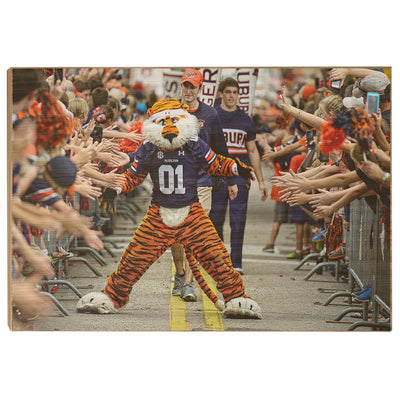 Auburn Tigers - Aubie at the Tiger Walk - College Wall Art#Wood