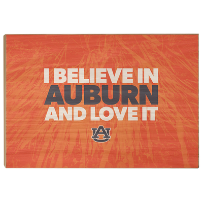 Auburn Tigers - I Believe in Auburn - College Wall Art#Wood