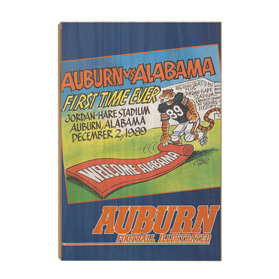 Auburn Tigers - Vintage Auburn vs Alabama-First Time Ever Jordan Hare 12.2.89 - College Wall Art #Wood