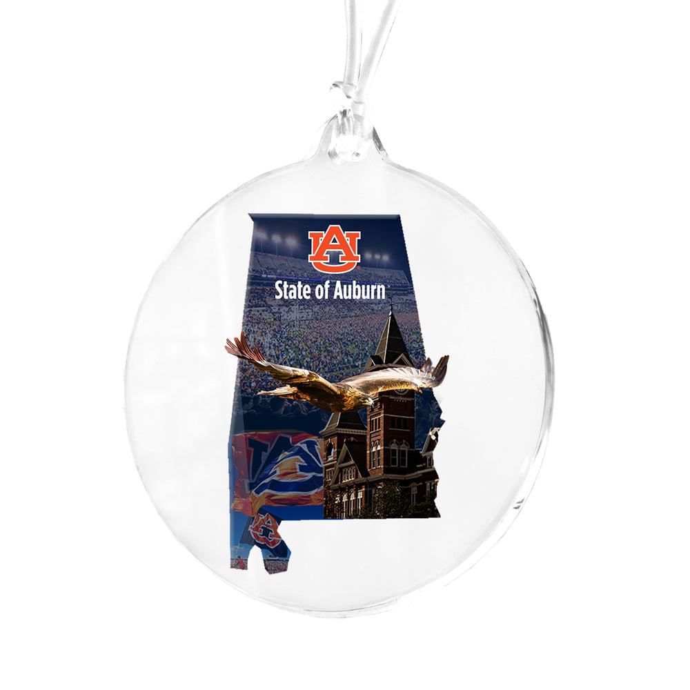Auburn Tigers - State of Auburn Bag Tag & Ornament
