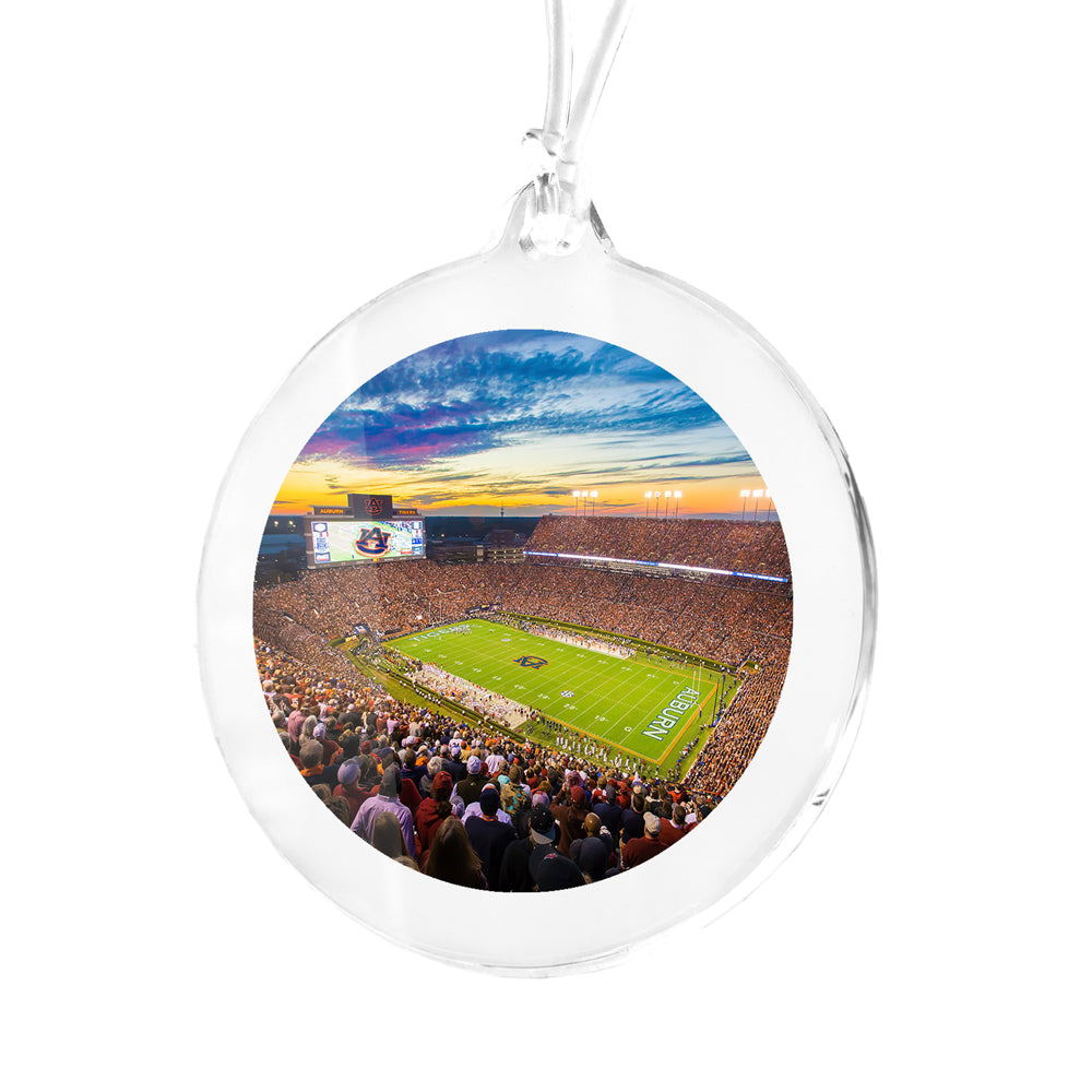 Auburn Tigers - Sunset Overe Jordan Hare Stadium Bag Tag & Ornament