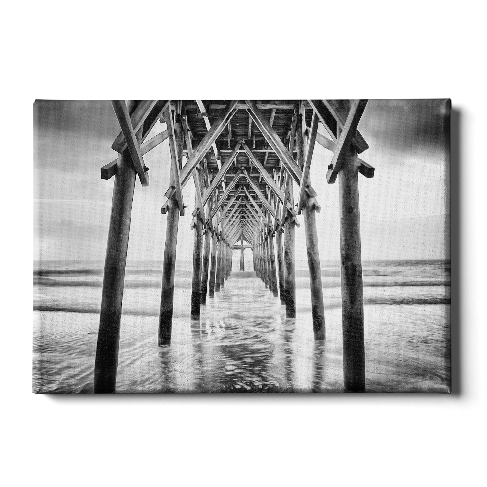 Pier Sunset B&W - College Wall Art
