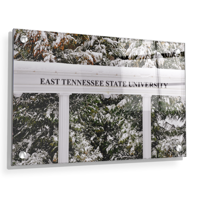 ETSU - East Tennessee Snow - College Wall Art#Acrylic