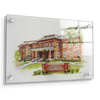 ETSU - Bill Gatton College of Pharmacy Watercolor - College Wall Art #Acrylic