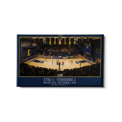 ETSU - Volleyball Home Opener Panoramic - College Wall Art #Canvas
