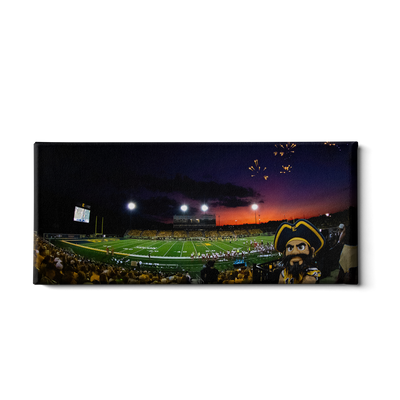 ETSU - Sunset Score with Bucky Panoramic - College Wall Art#Canvas