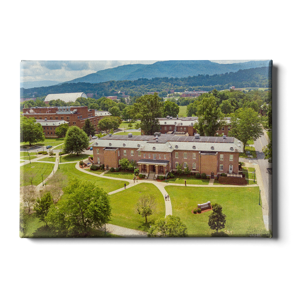 ETSU - Bill Gratton School of Pharmacy Aerial - College Wall Art #Canvas