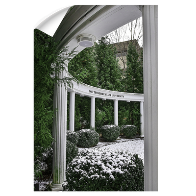ETSU - Snowy Amphitheater - College Wall Art#Wall Decal