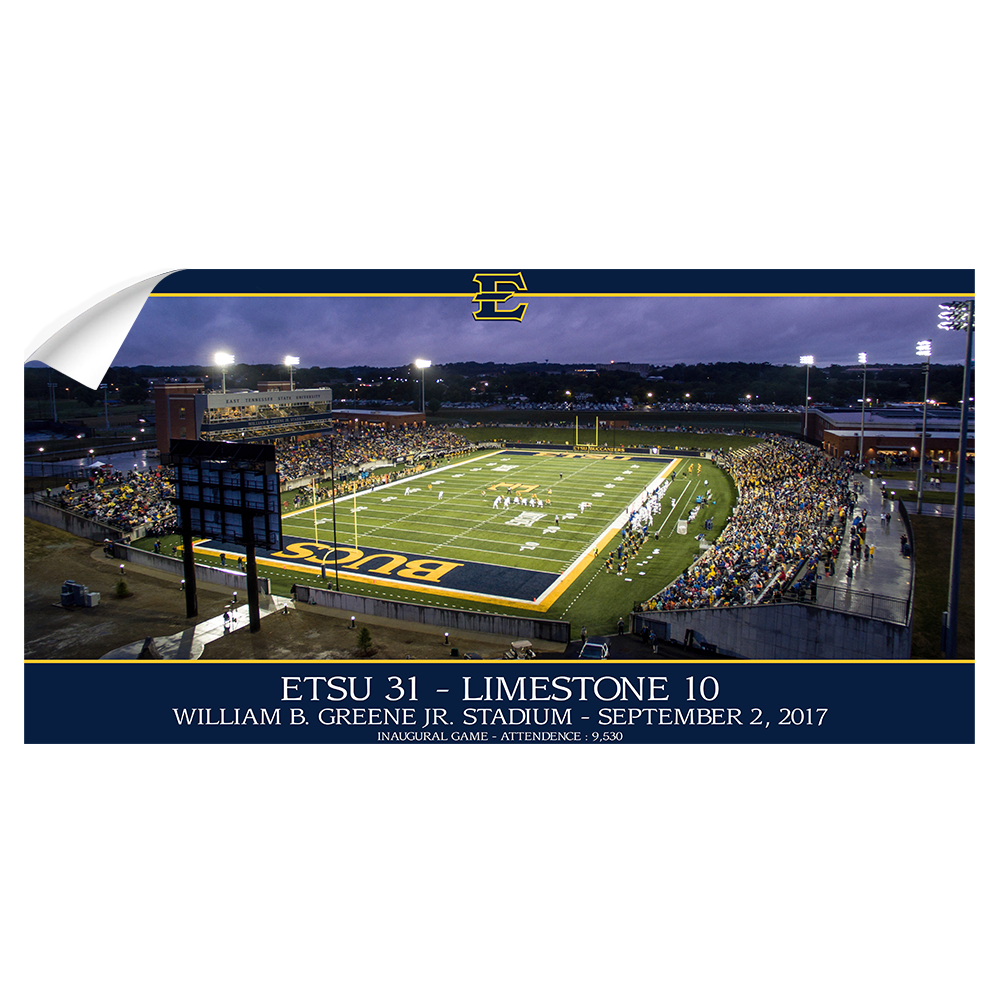ETSU - The Inaugural Game Panoramic - College Wall Art #Canvas
