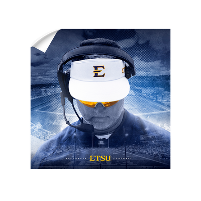ETSU - Head Football Coach Randy Sanders - College Wall Art#Wall Decal