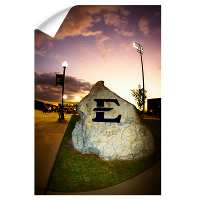 ETSU - The Rock - College Wall Art#Wall Decal