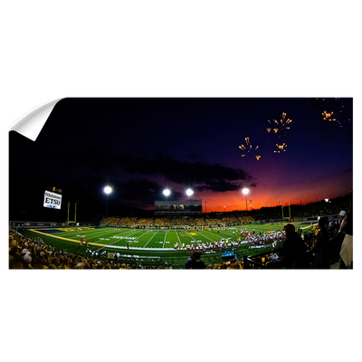 ETSU - Sunset Touchdown Panoramic - College Wall Art#Wall Decal