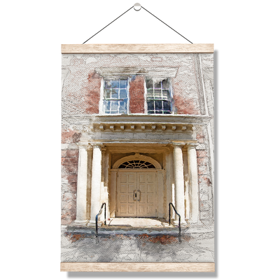 ETSU - The Door Sketch - College Wall Art#Hanging Canvas