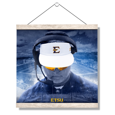 ETSU - Head Football Coach Randy Sanders - College Wall Art#Hanging Canvas