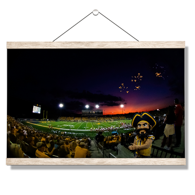 ETSU - Sunset Score with Bucky - College Wall Art#Hanging Canvas