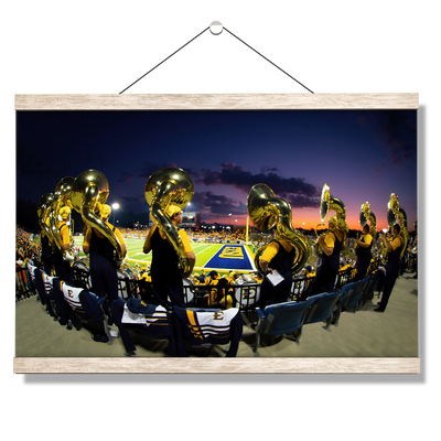 ETSU - Trombone Sunset - College Wall Art#Hanging Canvas