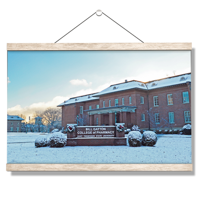 ETSU - Bill Gatton College of Pharmacy Winter - College Wall Art #Hanging Canvas