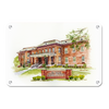 ETSU - Bill Gatton College of Pharmacy Watercolor - College Wall Art #Metal