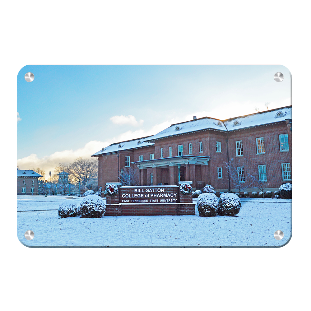 ETSU - Bill Gatton College of Pharmacy Winter - College Wall Art #Canvas