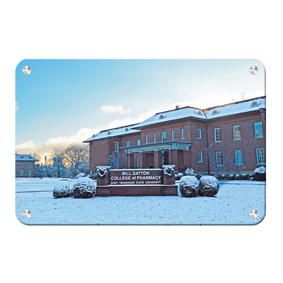 ETSU - Bill Gatton College of Pharmacy Winter - College Wall Art #Metal