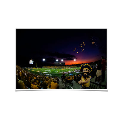 ETSU - Sunset Score with Bucky - College Wall Art#Poster