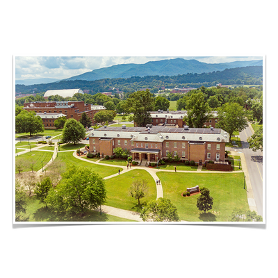 ETSU - Bill Gratton School of Pharmacy Aerial - College Wall Art #Poster
