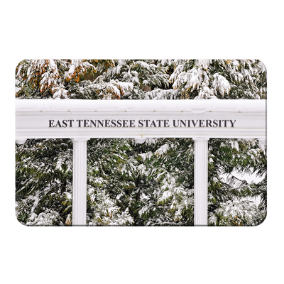 ETSU - East Tennessee Snow - College Wall Art#PVC