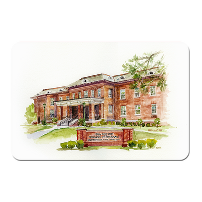ETSU - Bill Gatton College of Pharmacy Watercolor - College Wall Art #PVC