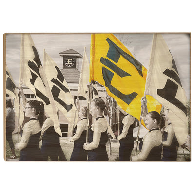 ETSU - Color Guard - College Wall Art #Wood