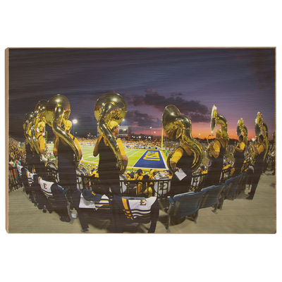 ETSU - Trombone Sunset - College Wall Art#Wood