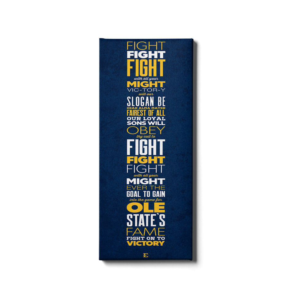 ETSU - Fight Song - College Wall Art