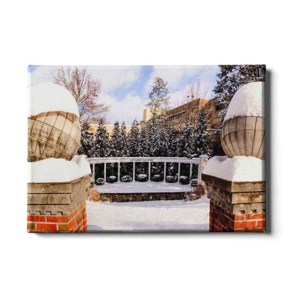 ETSU - Snow Day - College Wall Art#Canvas