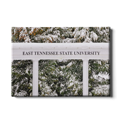 ETSU - East Tennessee Snow - College Wall Art#Canvas