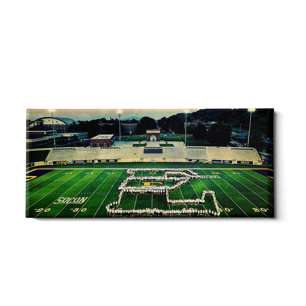 ETSU - Buccaneer Family Photo Panoramic - College Wall Art#Canvas