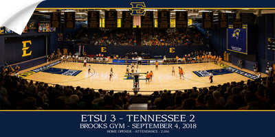 ETSU - Volleyball Home Opener Panoramic - College Wall Art#Wall Decal