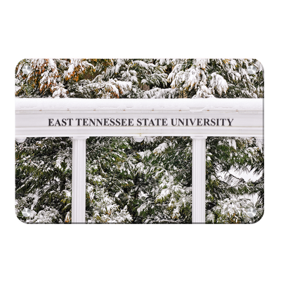 ETSU - East Tennessee Snow - College Wall Art#Metal