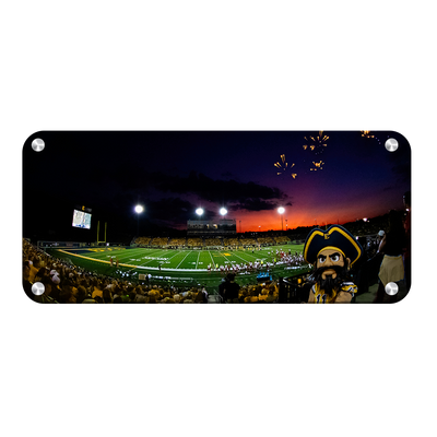 ETSU - Sunset Score with Bucky Panoramic - College Wall Art#Metal