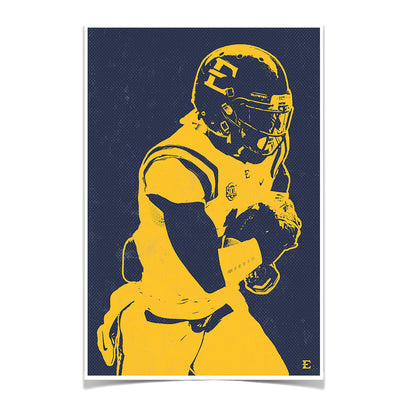 ETSU - Blue & Gold Bucs - College Wall Art#Poster