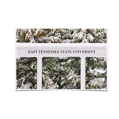 ETSU - East Tennessee Snow - College Wall Art#Poster