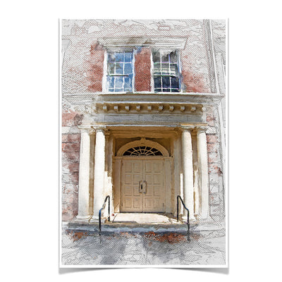 ETSU - The Door Sketch - College Wall Art#Poster