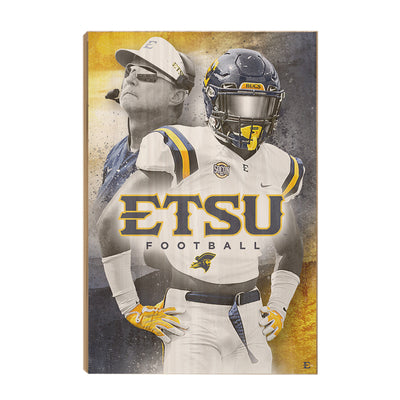 ETSU - Bucs - College Wall Art#Wood
