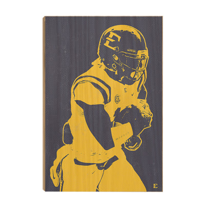 ETSU - Blue & Gold Bucs - College Wall Art#Wood