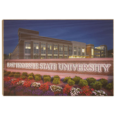 ETSU - East Tennessee State University - College Wall Art#Wood