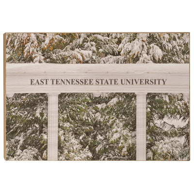 ETSU - East Tennessee Snow - College Wall Art#Wood