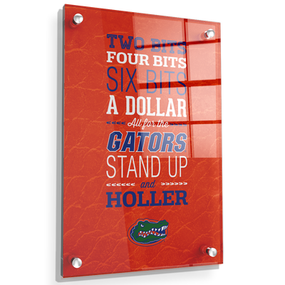 Florida Gators - Mr Two Bits - College Wall Art #Acrylic