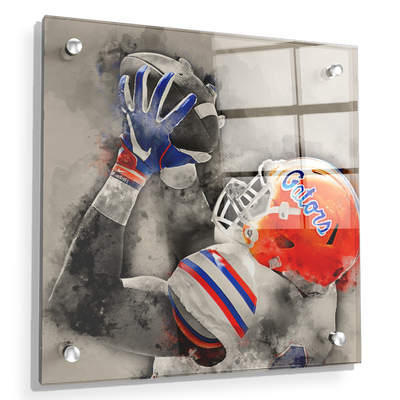 Florida Gators - The Catch Watercolor - College Wall Art #Acrylic